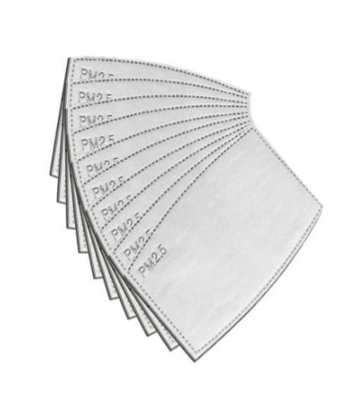 Filter Inlay voor de Mondkapjes Fashion per 10 stuks