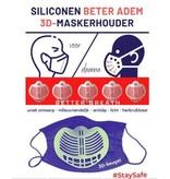 3-D siliconen Better Breath mondkapjes