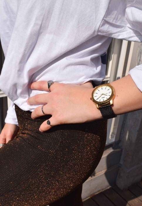 IKKI Horloge VANCE VC05, 40 mm Black Gold