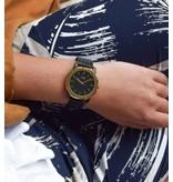 IKKI Unisex Horloge VANCE VC06, 40 mm Black-Gold