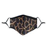 Mondkapje Fashion  Giraf print