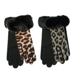 Dames Handschoenen Leopard & Fur