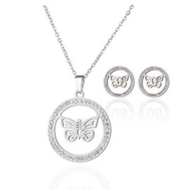 Sieradenset Shining Butterfly Stainless Steel