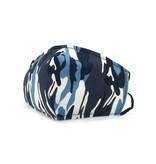 Mondkapje Fashion  Army Blue
