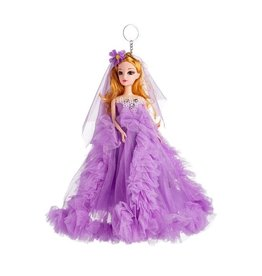 Sleutelhanger Princessa in Purple Bruidsjurk 27 cm