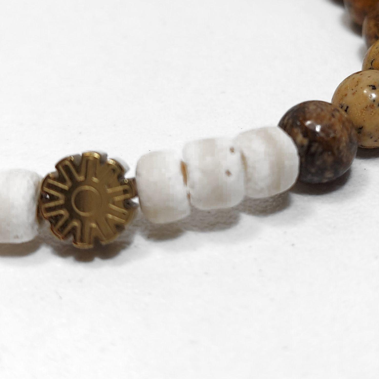Sazou Jewels Armband Boys  - Natural Stones met hematiet mandalaspacer