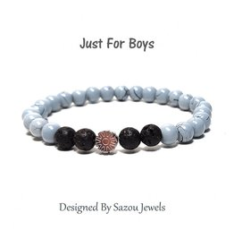 Sazou Jewels Armband Boys  - Natural Stones