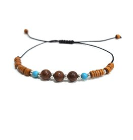 Sazou Jewels Armband Boys - Natural Stones - Verstelbaar