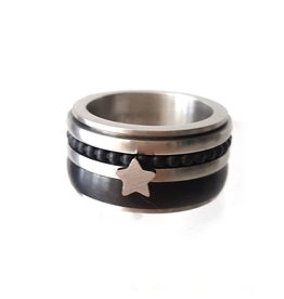 Ring Star Stainless Steel
