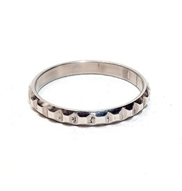 Ring Blox Stainless Steel  - Silver Plated