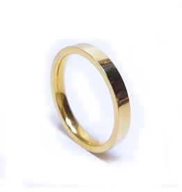 Ring Smooth Stainless Steel - Gold Plated