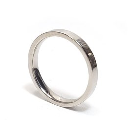 Ring Smooth Stainless Steel - Silver Plated
