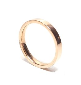 Ring Smooth Stainless Steel - Rose Plated