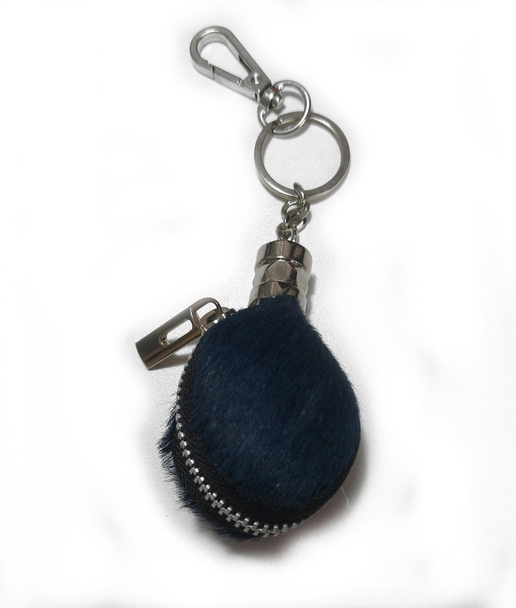 Giuliano Tas,- Sleutelhanger druppelvorm Blauw