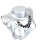 Luxe ketting zilver zwart