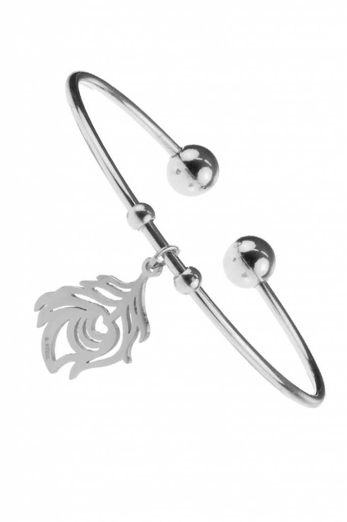 Armband Flower - Edelstaal zilver