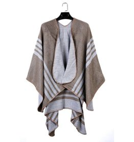 Omslag Sjaal Poncho  Beige