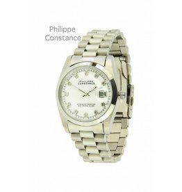 Philippe Constance Horloge Large Silver Stones White