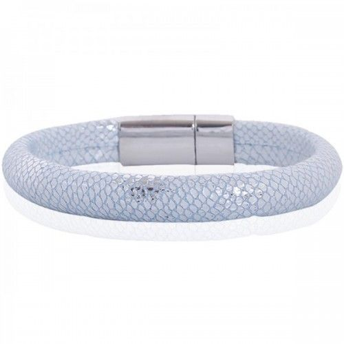 Armband met snake print - Licht Blauw