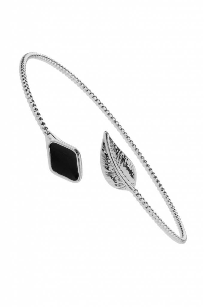 Armband Leaf Stone zilver