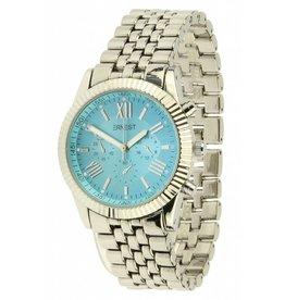 Ernest Horloge Serrated Edge Licht Blauw