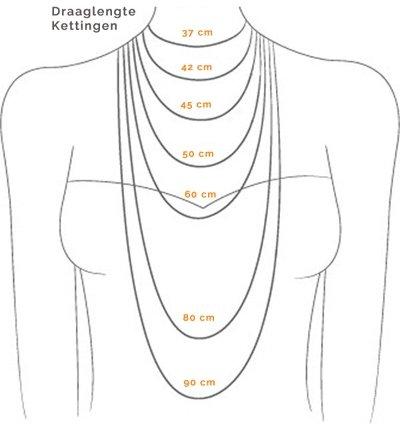 leren koord ketting met 10 druppelelementen