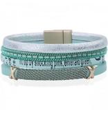 Armband Summer Mint met magneet sluiting