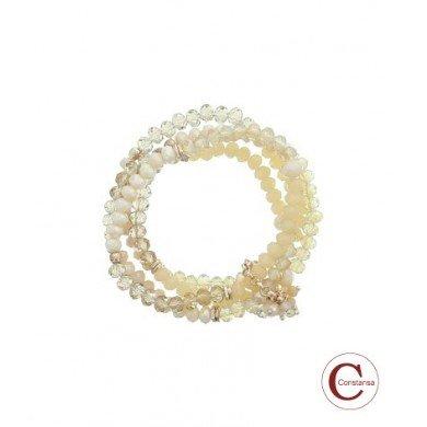 Constansa Plus Size kralen Armband Old Pink