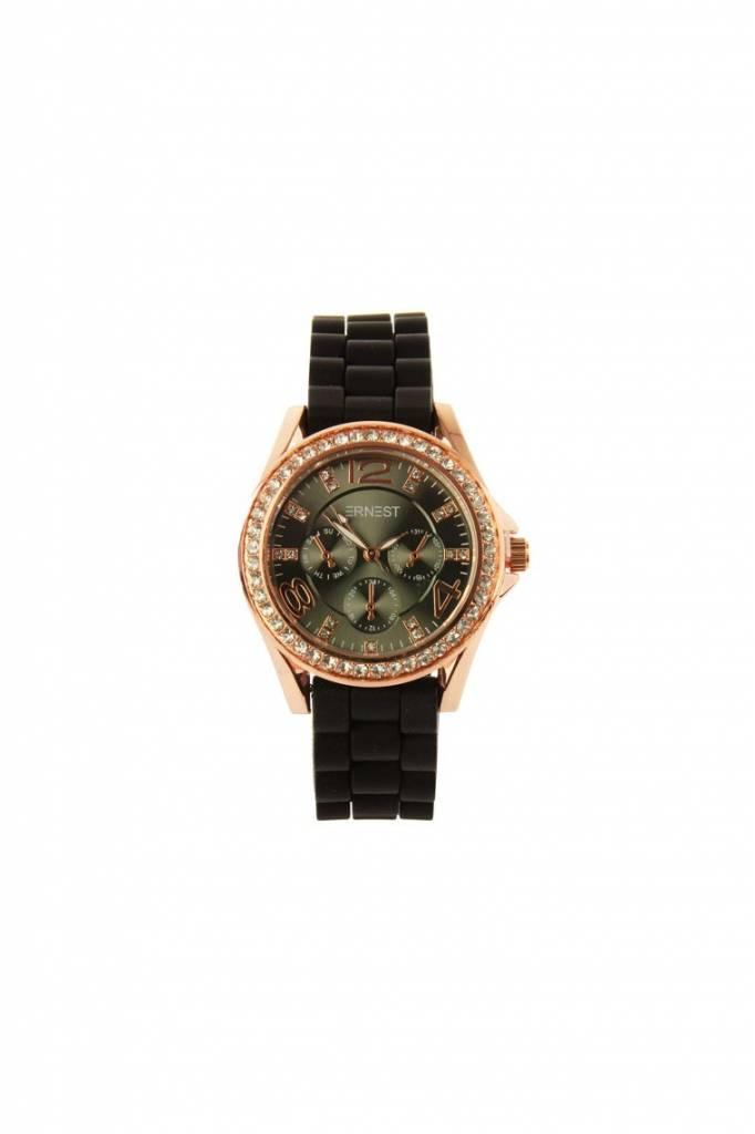 Ernest Horloge Rose Stone Zwart Zwart 7048