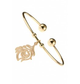 Armband Flower Edelstaal - Rose Plated