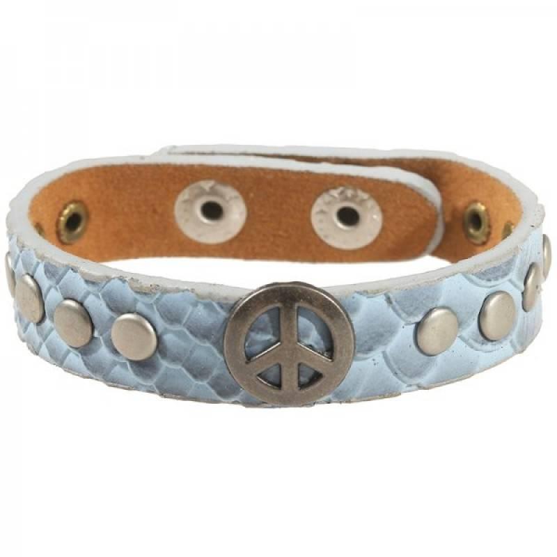 Verstelbare Armband Peace Licht Blauw