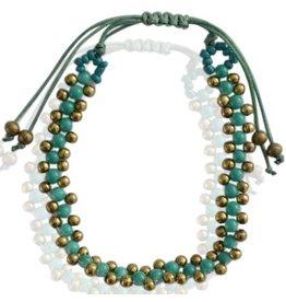 Armband George - Groen/Blauw