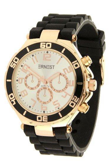 Ernest Horloge Rose Case Zwart Wit 7053