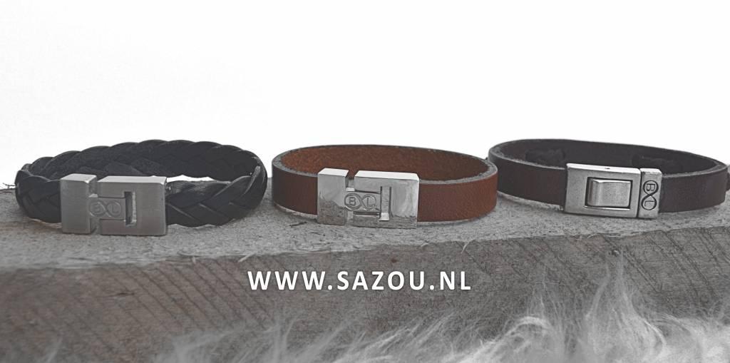 B & L Lederen armband Cognac- BL 4337-18