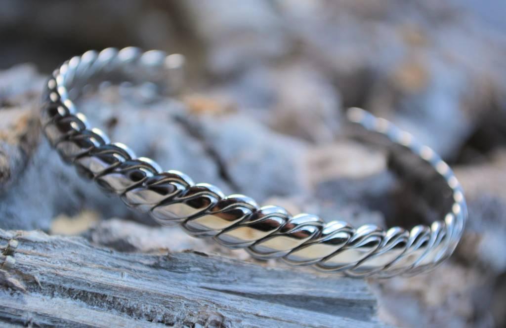 "B & L Armband ""Verona""- Shiny Steel - Stainless Steel 316L"