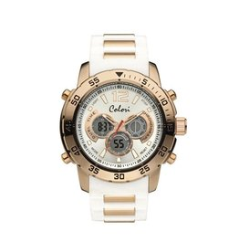 Colori Horloge Electric Collection- Anadigi White Strap 5-CLD103