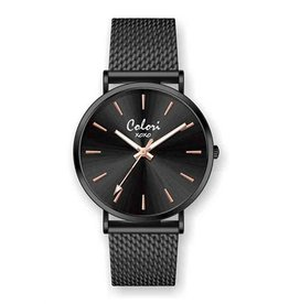 Colori Horloge XOXO mesh strap -Black 5-COL449