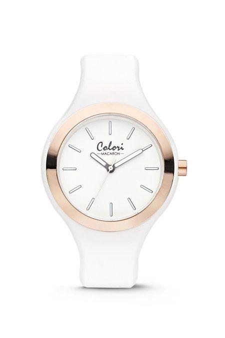 Colori - Macaron Horloge Macaron White 5-COL430