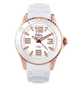 Colori Horloge Amazing Rose Metal White 5-COL077