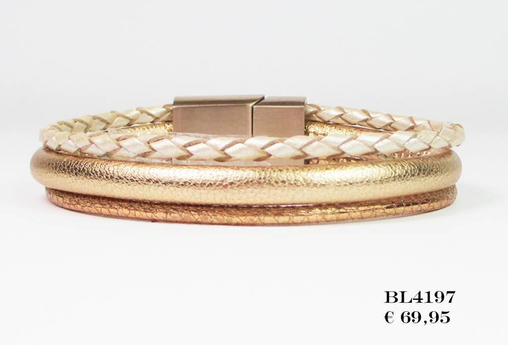B & L Lederen Armband BL 4197-34