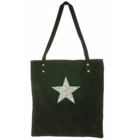 Suede Tas Stacia Star Black