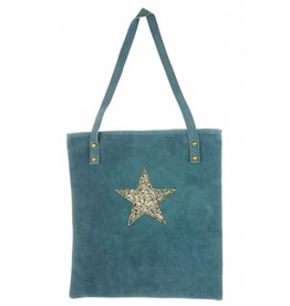 Suede Tas Stacia Star Blue