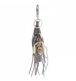 Key Ring of tashanger met schelpen en kwastje