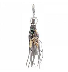 Sazou Jewels Tas,- Sleutelhanger met schelpen en kwastje