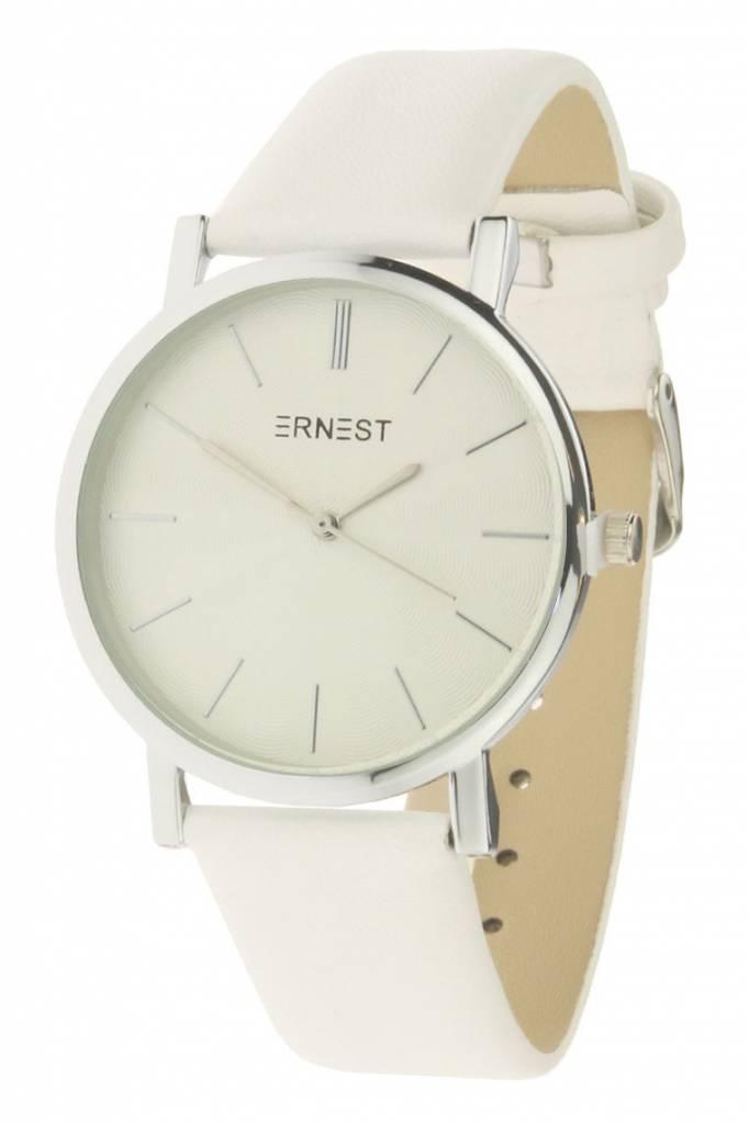 Ernest Horloge Timeless Silver White