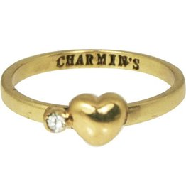 KIDZ CHARMIN*S Love HEART & DIAMOND GOLD WHITE KR53