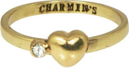 KIDZ CHARMIN*S Love HEART & DIAMOND GOLD WHITE KR53