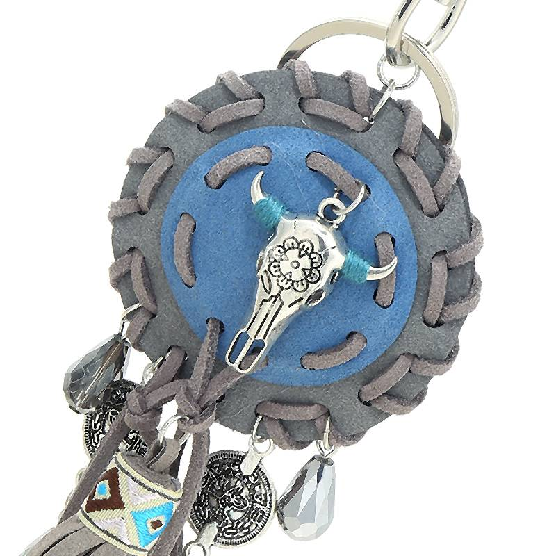 Tas,- Sleutel hanger Buffalo Grey Blue