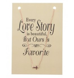 KK-D-C9.6 Kaartketting Love Story CROSS Rose Gold