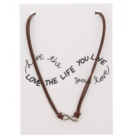KK-C-D15.2 Kaartketting Love The Life INFINITY Brown